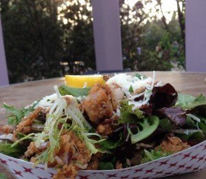 Flash Fried Calamari Salad