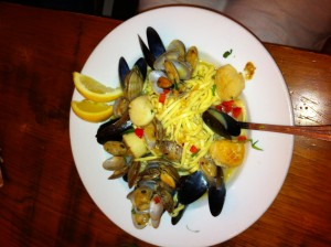 Seafood Pasta, shrimp, clams, mussels & scallops