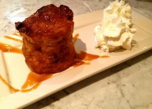 Bread PuddingPear / White Chocolate / Housemade Croissants / Caramel Sauce