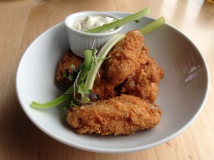 Country Fried Chicken Wings with Smoked Blue Cheese